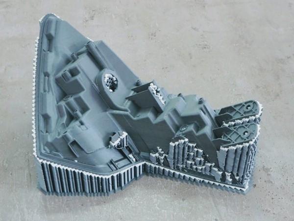 3D tisk - světlomet s podporami